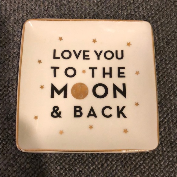 To The Moon And Back Ring Dish